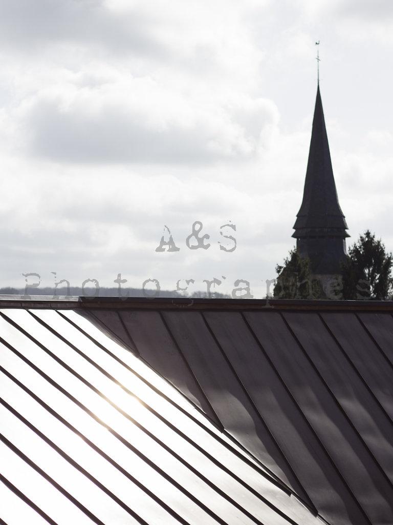 Extension école à Saint-Pierre-de-Bailleul - Details Cuivre - Etienne Lemoine architecte, agence d'architecture MWAH